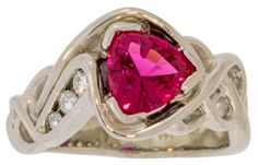 Hot Pink Tourmaline 14k Gold Ring