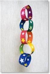 七夕飾り【輪かざり】 折り紙 無料ダウンロード・印刷