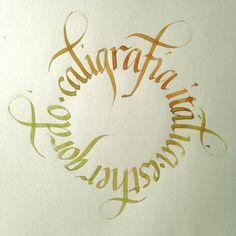 Caligrafia itálica. Esther gordo