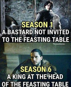 Jon Snow first and seventh season meme Game Of Thrones Telltale, Got Game Of Thrones, Game Of Thrones Funny, Khal Drogo, Jon Snow, Stages Of Grief, My Champion, I Love Games, The North Remembers