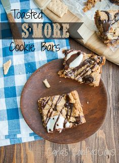 Carla's Confections: Toasted S'more Cookie Bars (Bake Sale for Beka) (chocolate bars cookies)