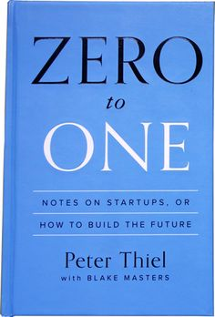 ******************************************************************************************* Update: Peter and I have written a book. It's called Zero to One, and it's available now in bookstores...