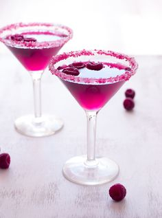 Very Pink Raspberry Cosmopolitan Cocktail | Pineapple & Coconut