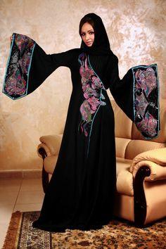 Lets tour on abaya designs, long frocks, indian bridal wear, pakistani dresses and mehndi designs, lehenga choli and eye makeup Abaya Designs, Burqa Designs, Abaya Fashion, Kimono Fashion, Modest Fashion, Muslim Women Fashion, Islamic Fashion, Womens Fashion, Black Abaya