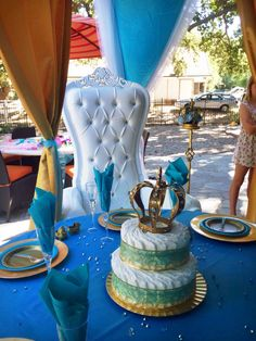 Alexis Royal Baby Shower- Throne