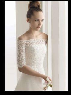 Aire Barcelona Bolero Wedding Dress $270