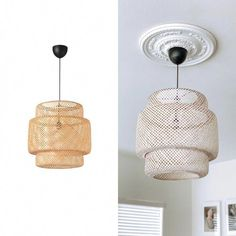 things to make IKEA Sinnerlig Pendant hack - Elle & Cru Tips On How To Buy Discount Furniture If Ikea Ceiling Light, Ikea Light Fixture, Ikea Pendant Light, Ceiling Lamp, Pendant Lamp, Light Fixtures, Bedroom Lamps, Bedroom Lighting, Bedroom Dressers