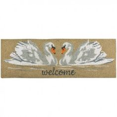 Brambly Cottage This beautiful swans in love doormat will brighten up the doorstep. The strong coir mat removes stubborn dirt and mud from shoes and boots. It is easy to clean and non-slip. Beautiful Swan, Esschert Design, Coir, Cottage, Cleaning, Mud, Home Decor, Strong, Boots