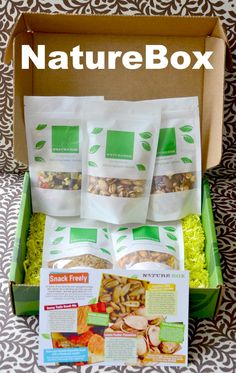In Lieu of Preschool: NatureBox: Healthy Snacks Delivered to Your Door! #giveaway #couponcode