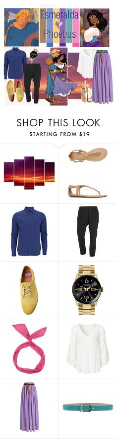 """""""Esmeralda <3 Phoebus"""" by monica-diaz-1 ❤ liked on Polyvore featuring Report, Hardy Amies, SILENT by Damir Doma, Rollie, Nixon, Tru Trussardi and H&M"""