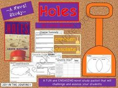 """""""Holes"""" MEGA Activity Packet: A Novel Study of the book by Louis Sachar from Joy in the Journey on TeachersNotebook.com -  (55 pages)  - This MEGA packet is the perfect supplement to a study of the book, """"Holes"""" by Louis Sachar, whether you're doing it as a whole-class, a small group (i.e. reading groups or literature circles), or as an individual project. It includes activi"""