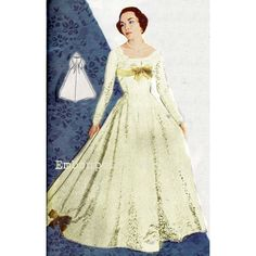 New to EmbonpointVintage on Etsy: Vintage Sewing Pattern 1956 Wedding Dress PDF Plus Size (or any size)  - Pattern No 5 Noreen (13.11 AUD)