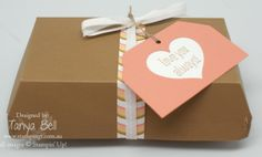 how to supersize the Stampin' Up! Hamburger Box Die with tutorial