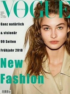 Grace Elizabeth on the cover of Vogue Germany February 2018