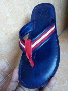 Mantap x bah. African Fashion, Women's Fashion, Fashion Trends, Male Sandals, Men's Slippers, Slipper Sandals, Captain America, Leather Sandals, Flip Flops