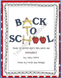 Back to School Night Ideas/Printables * FREEBIE* from traditionslaughter on TeachersNotebook.com (8 pages)