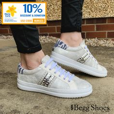 Get 10% off everything and we'll donate a further 10% to @mariecurieuk - Get these luxurious #leathertrainers from #geox here 👉  www.beggshoes.com/geox-pontoise-D02FED-C1007 Use code: NURSES #athleisure #sportsluxe #sneakers #geoxtrainers #luxurytrainers Silver Trainers, Bags 2014, Athletic Looks, Sports Luxe, Womens Fashion Sneakers, Soft Suede, Nurses, Athleisure