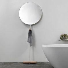 Giulietta floor mirror redefining scale via cableisdesign