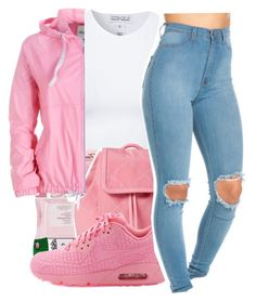 """I ain't tryna keep you"" by maiyaxbabyyy ❤ liked on Polyvore featuring Estradeur and NIKE"