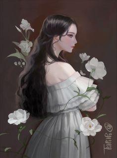 Anime Angel Girl, Anime Art Girl, Manga Art, Digital Art Anime, Digital Art Girl, Beautiful Fantasy Art, Beautiful Anime Girl, Aesthetic Art, Aesthetic Anime