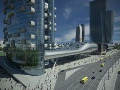 Exhibition Halls and Residential Tower Project by Zaha Hadid Architects in Moscow Russia