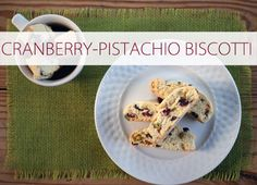 Cranberry-pistachio biscotti is the perfect blend of salty and sweet {plus it's naturally red and green!}
