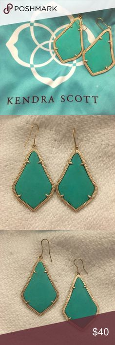 🦋Kendra Scott turquoise earrings Great condition - not the original hooks. Jewelry Earrings