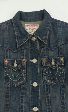 c991f56fe3fa True Religion Men Jimmy Denim Jacket Size Large