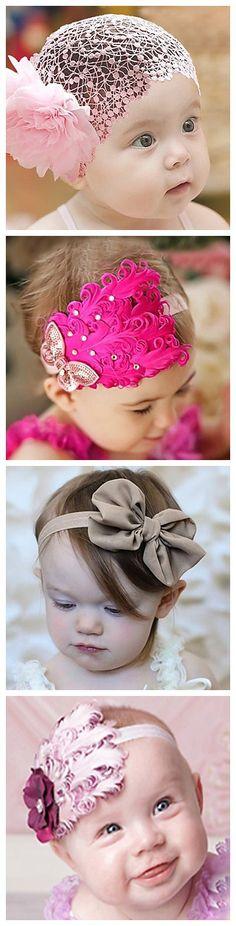 Que hermosas diademas para las niñas