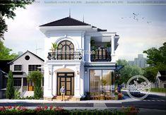 Biệt thự 2 tầng mang vẻ đẹp đi cùng thời đại tại Sài Gòn BT1927 Classic House Exterior, Classic House Design, Small House Design, Modern House Design, Neoclassical Architecture, Facade Architecture, House Plans Mansion, Front Elevation Designs, Contemporary Garden Design