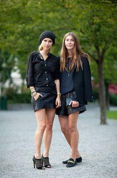 Street Style | Black leather #fashion