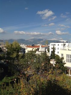 Parnitha mountain from my balcony in Marousi, Athens.