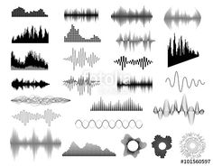 Vector: Sound waves set