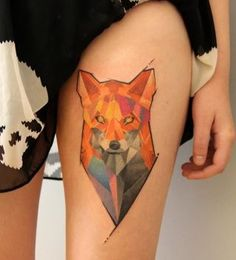 Geometric Fox Tattoo Like