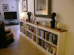 Ordinaire Purpose Made Bookcase Long Enough To Get Everything On. Low Enough To No  Dominate,