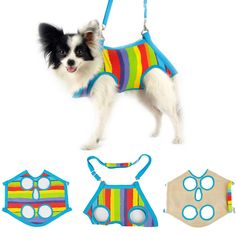 #pet dog multifunction stripe harness #travel carrier mesh bag free leash xlarge from $2.98