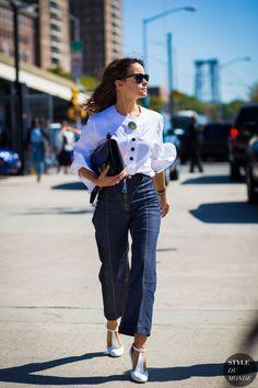 Miroslava Duma Mira Duma Street Style Street Fashion Streetsnaps by STYLEDUMONDE Street Style Fashion Photography