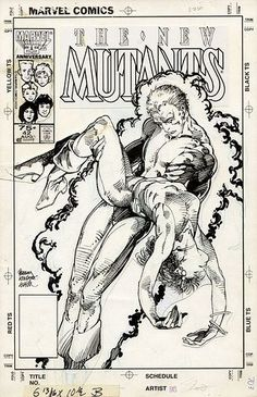 Barry Windsor-Smith - New Mutants n.42 cover
