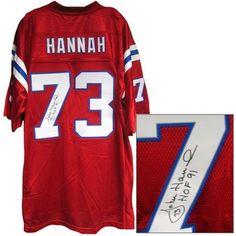 721ab802d Official New England Patriots ProShop - Autographed John Hannah Jersey