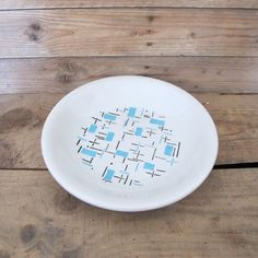 Vintage French Badonviller faience modernist Large serving Plate by MaisonW
