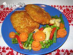 Retete gustoase si garnisite: Cordon bleu si legume la tigaie Romanian Recipes, Romanian Food, Cordon Bleu, Meat, Chicken, Cords, Cubs