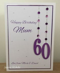 Another Birthday Card. (My Craft Room Makes) 50th Birthday Cards For Women, 90th Birthday Cards, Special Birthday Cards, Homemade Birthday Cards, Bday Cards, Homemade Cards, Birthday Ideas, Paper Cards, Greeting Cards Handmade