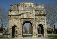 The Roman Triumphal Arch of Orange, France