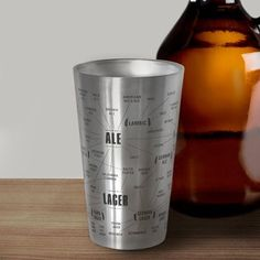 The Very Many Varieties of Beer Stainless Steel Tumbler - $16