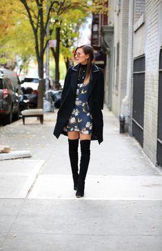 slip & thigh highs. #DanielleBernstein in NYC. #weworewhat