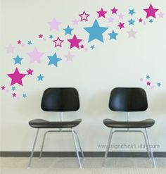 Stars Wall Decals set of 100 by signchick1 on Etsy