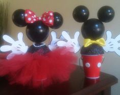 Mickey and Minnie Centerpiece by IndigoBloomsCo on Etsy Minnie Mouse Balloons, Mickey And Minnie Cake, Minnie Mouse Baby Shower, Pink Minnie, Mickey Party, Minnie Mouse Party, 1st Birthday Decorations, Birthday Party Centerpieces, Balloon Decorations
