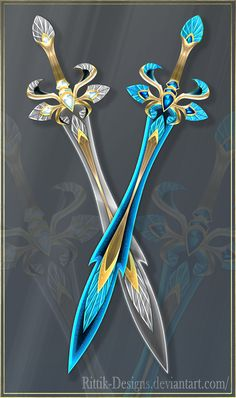 Twin swords (OPEN) Auction by Rittik-Designs on DeviantArt