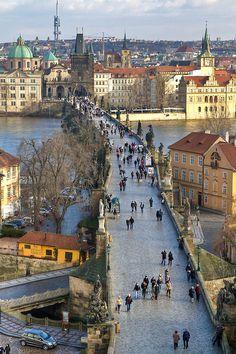 breathtakingdestinations:  Charles Bridge - Prague - Czech...