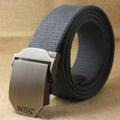 Luxury Military Style Canvas Tactical Belt for Men